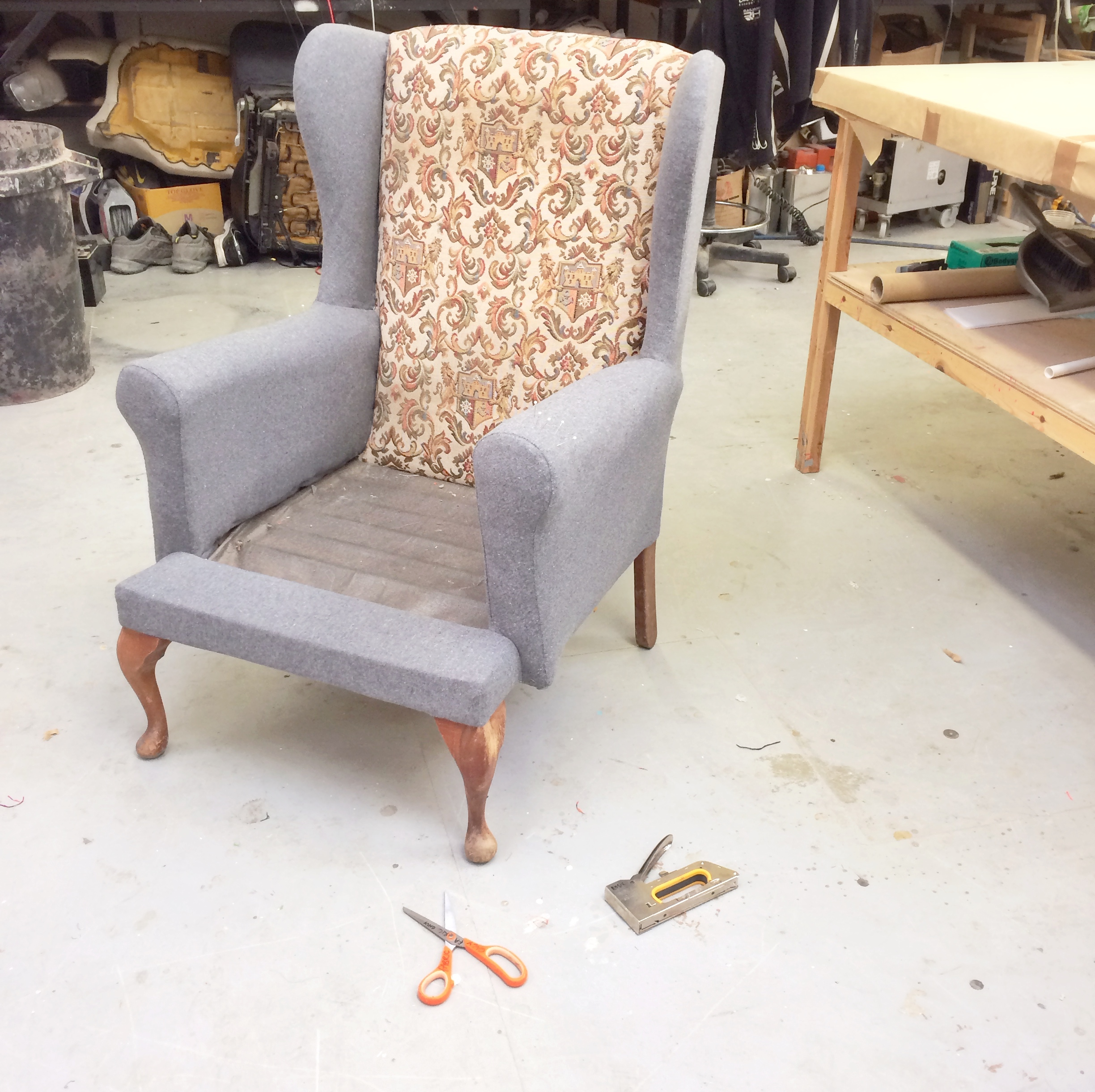 wingback reupholstery