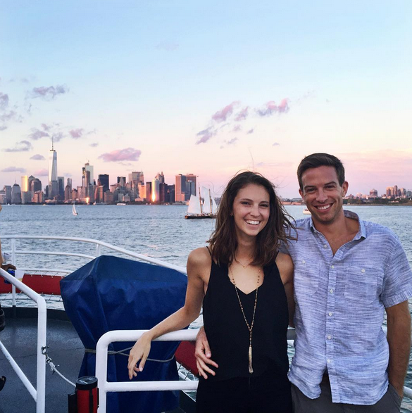 Steve, a NYC September sunset & me