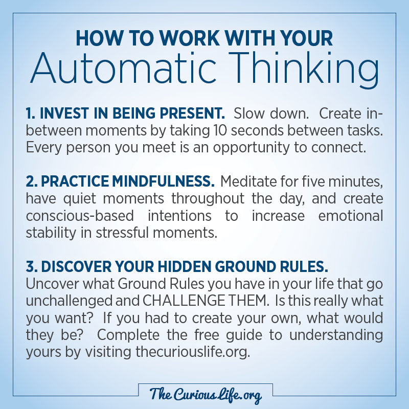 How to work with your Automatic Thinking