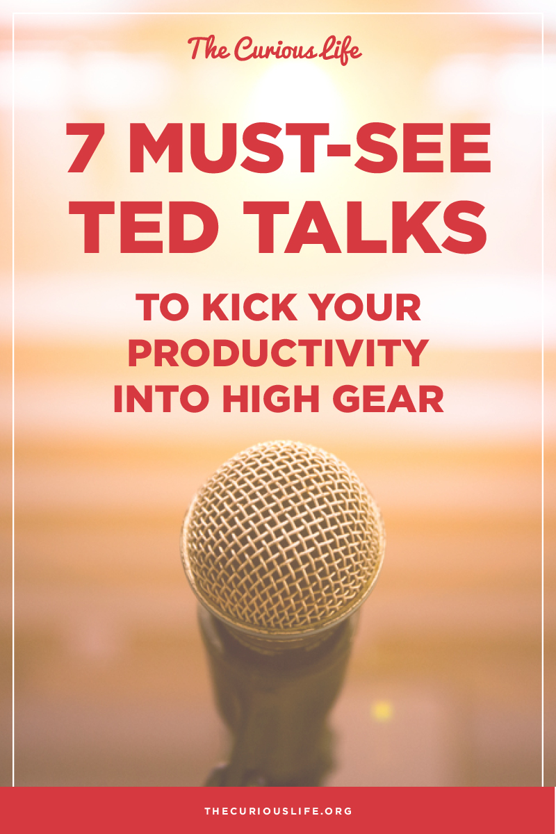 7 Must See TED Talks for Productivity, Career, Productivity, Biz, Entrepreneur, Getting Ahead, business tips, branding, marketing