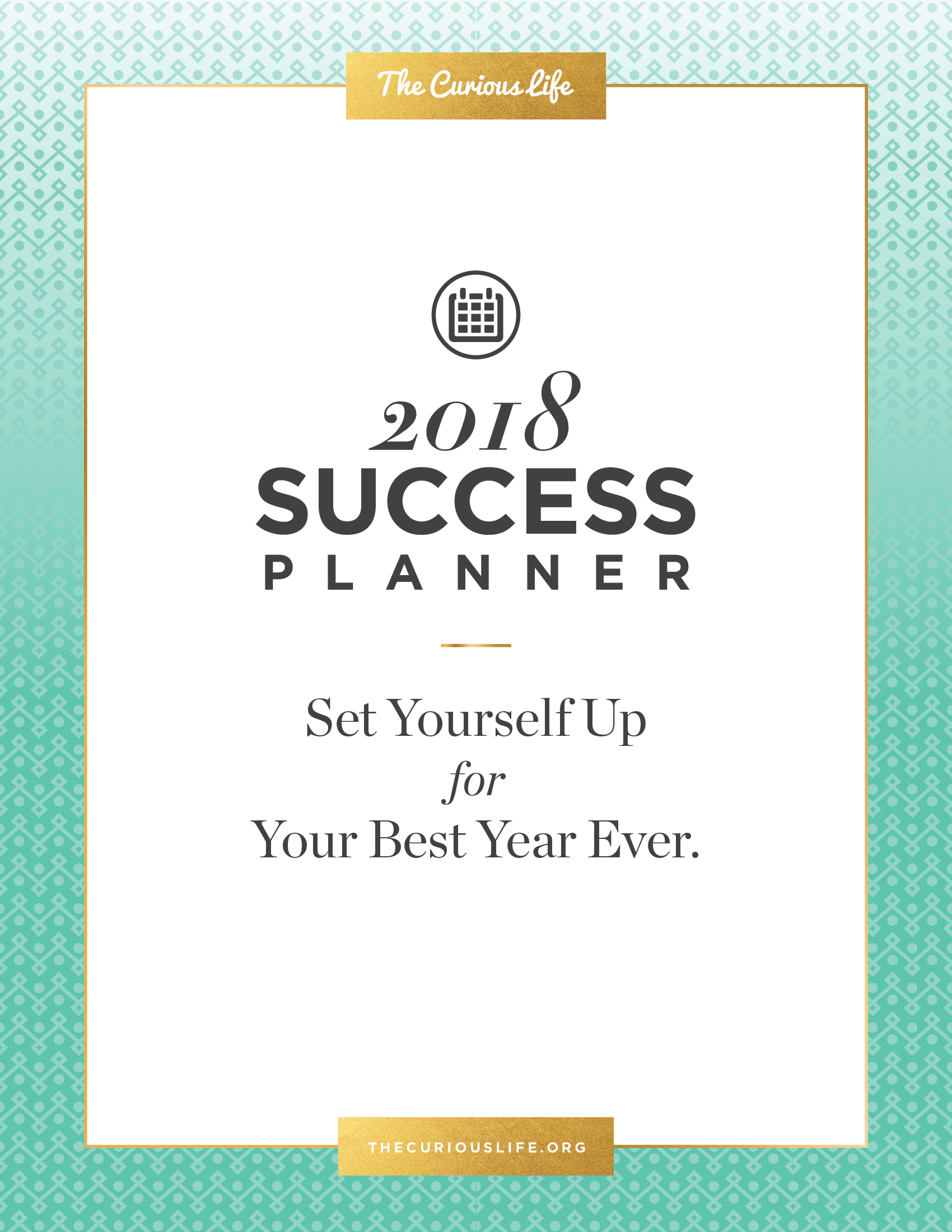 The 2018 Success Planner The Curious Life