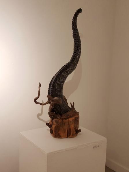 Metal & Wood Sculpture by Carey Morton