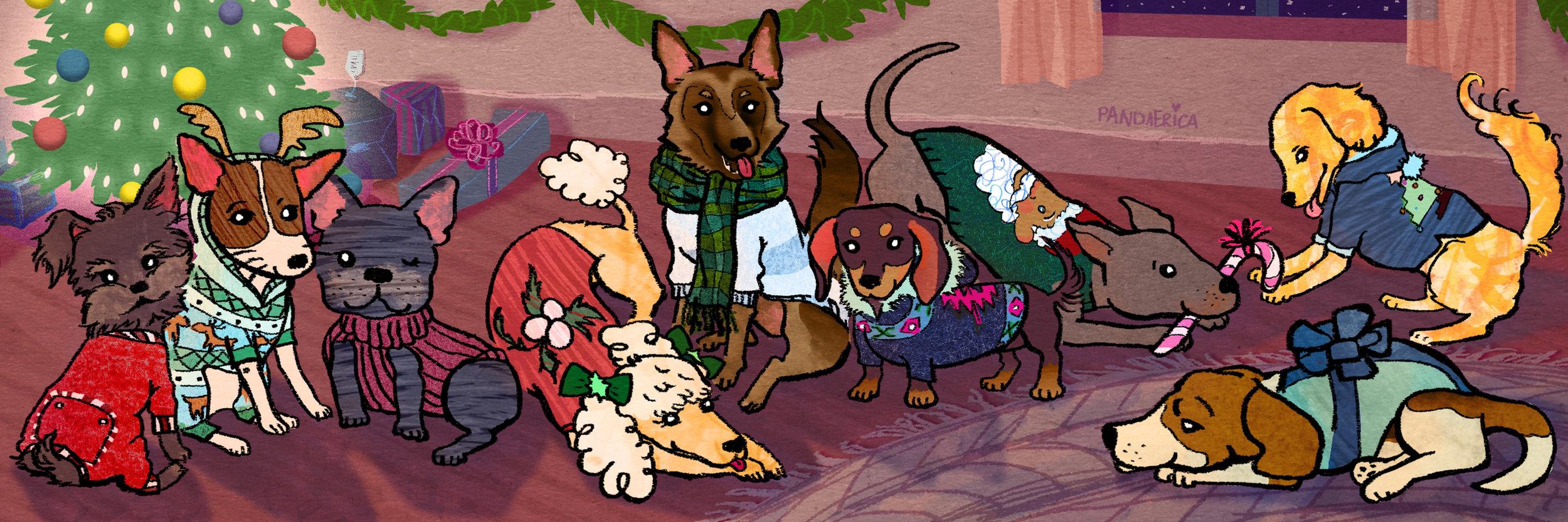 9 Dogs Wearing Sweaters