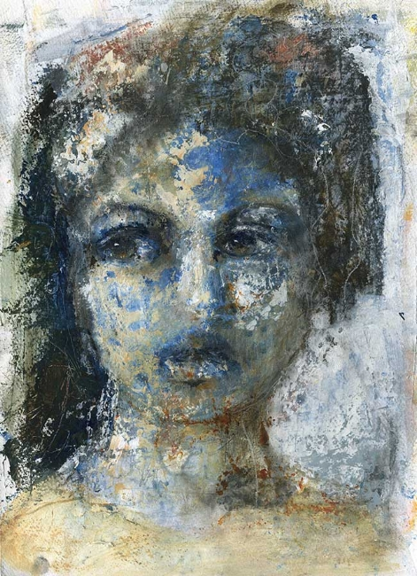 """""""Blue Stone Sister"""" framed to 16"""" x 20"""" $195"""