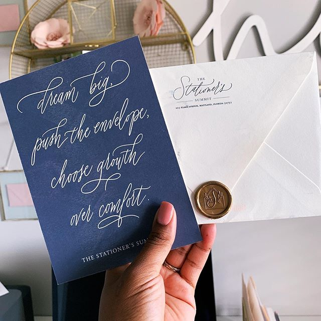 So excited for the @stationerssummit on Monday! 😬 This was the best #happymail AND with an @artisaire wax seal. #swoon #lovekenedie #weddingstationery