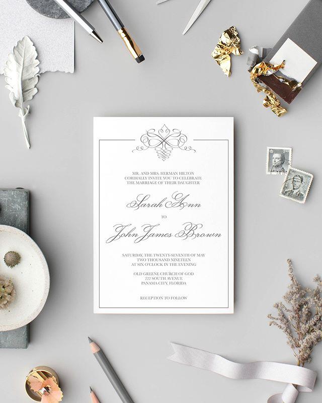 Meet Flourish from my Wedding Collection!  #lovekenedie #weddingcollection #invitationsuite #weddingstationery #weddinginvitations #paperlove #panamacitybride #blackbrides #panamacityweddings