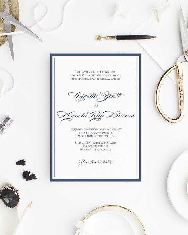 Meet Classic 🤵🏾👰🏾 Available through the Wedding Collection.  #lovekenedie #weddingcollection #invitationsuite #weddingstationery #weddinginvitations #paperlove #panamacitybride #blackbrides #panamacityweddings