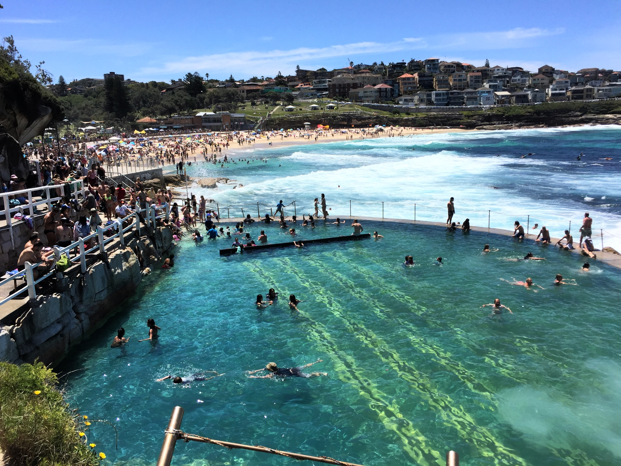 the rock pool at bronte beach in sydney, australia