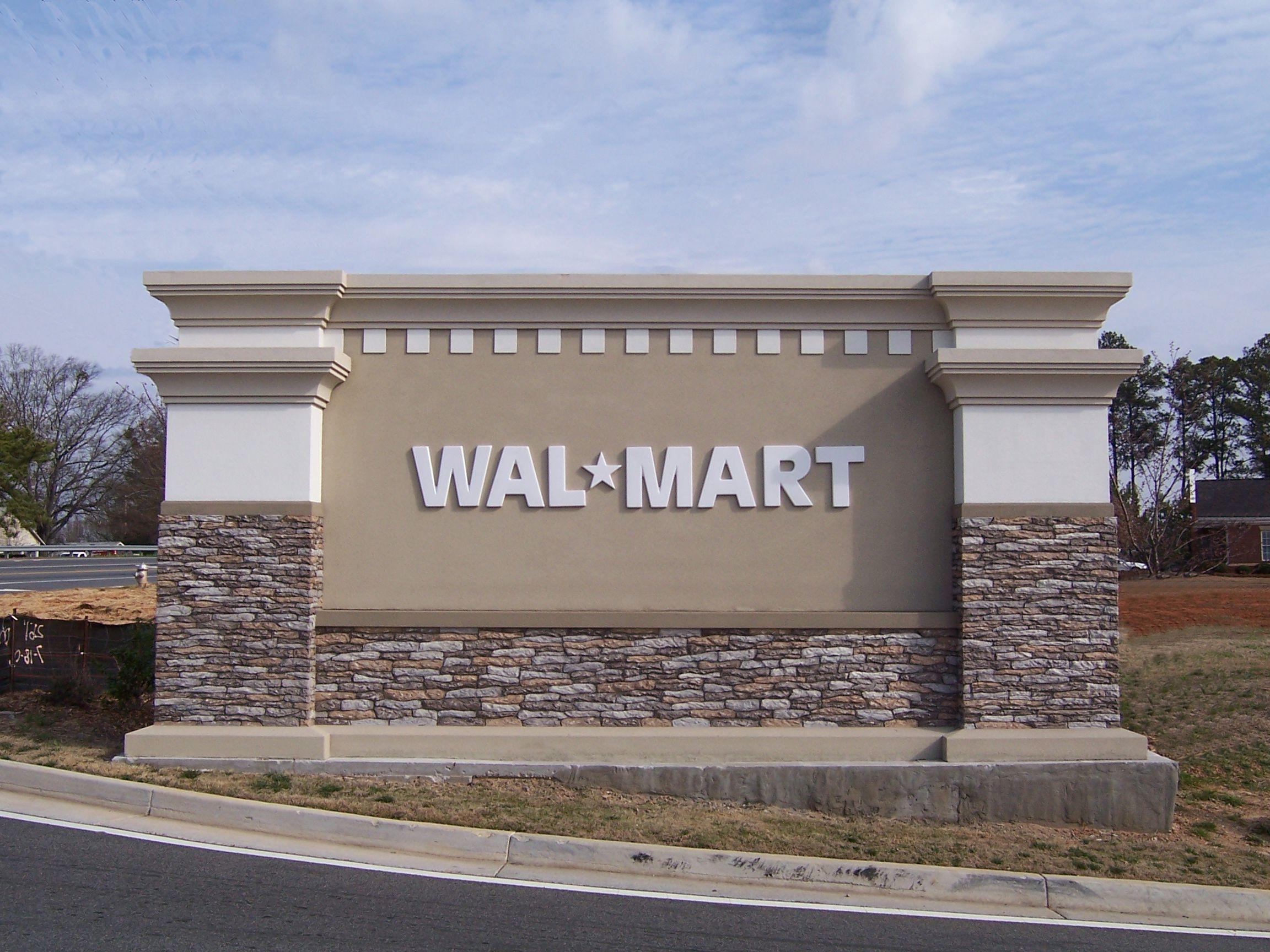Walmart Custom Monument.JPG
