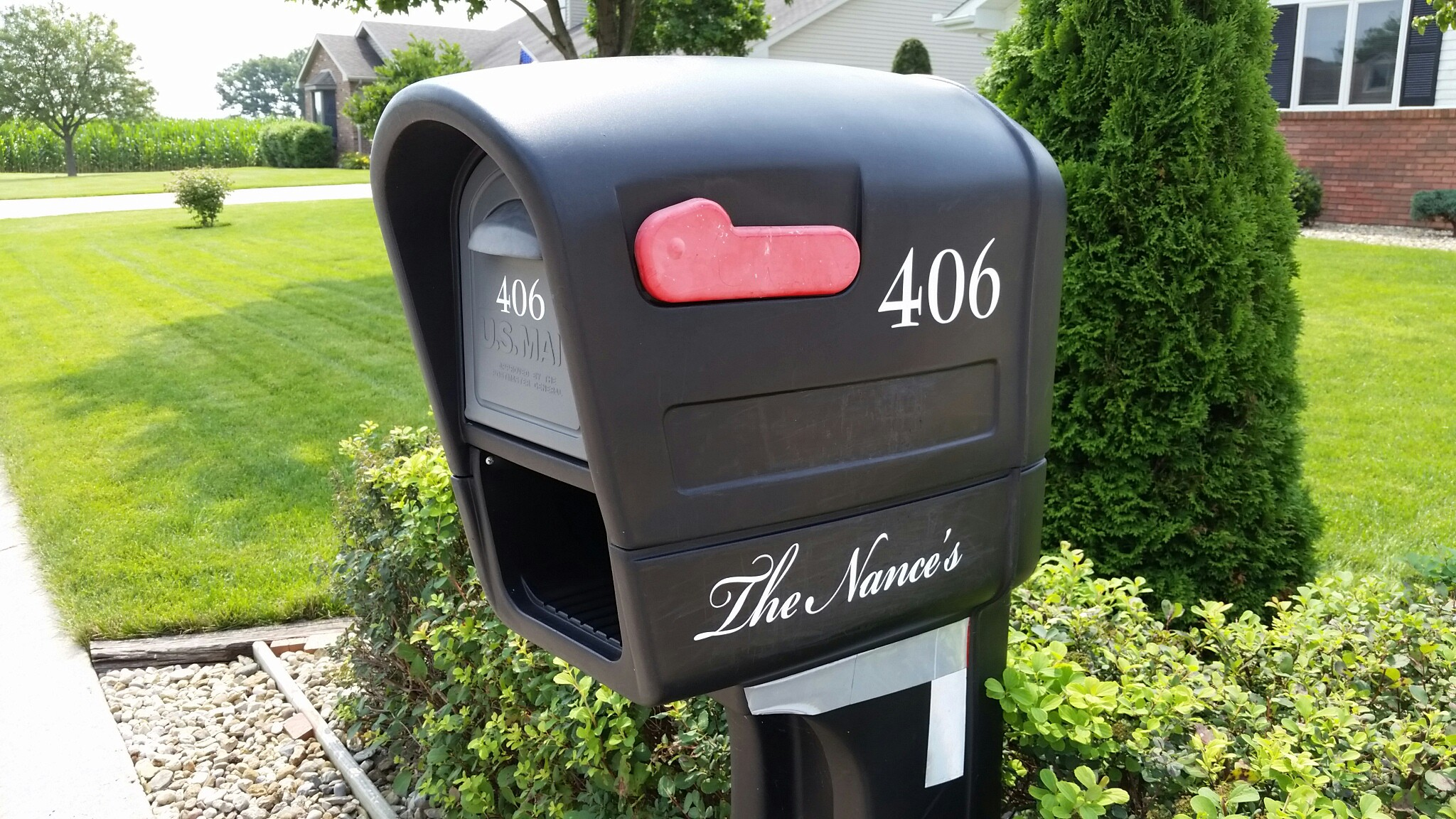 Mailbox Lettering - Athens, IL