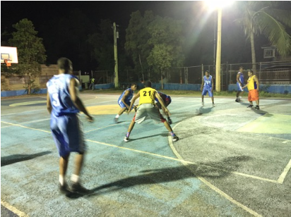 Basketball outreach in Coral de Sur. Kenneth's ministry organizes events like this every month and wants to grow it's impact.