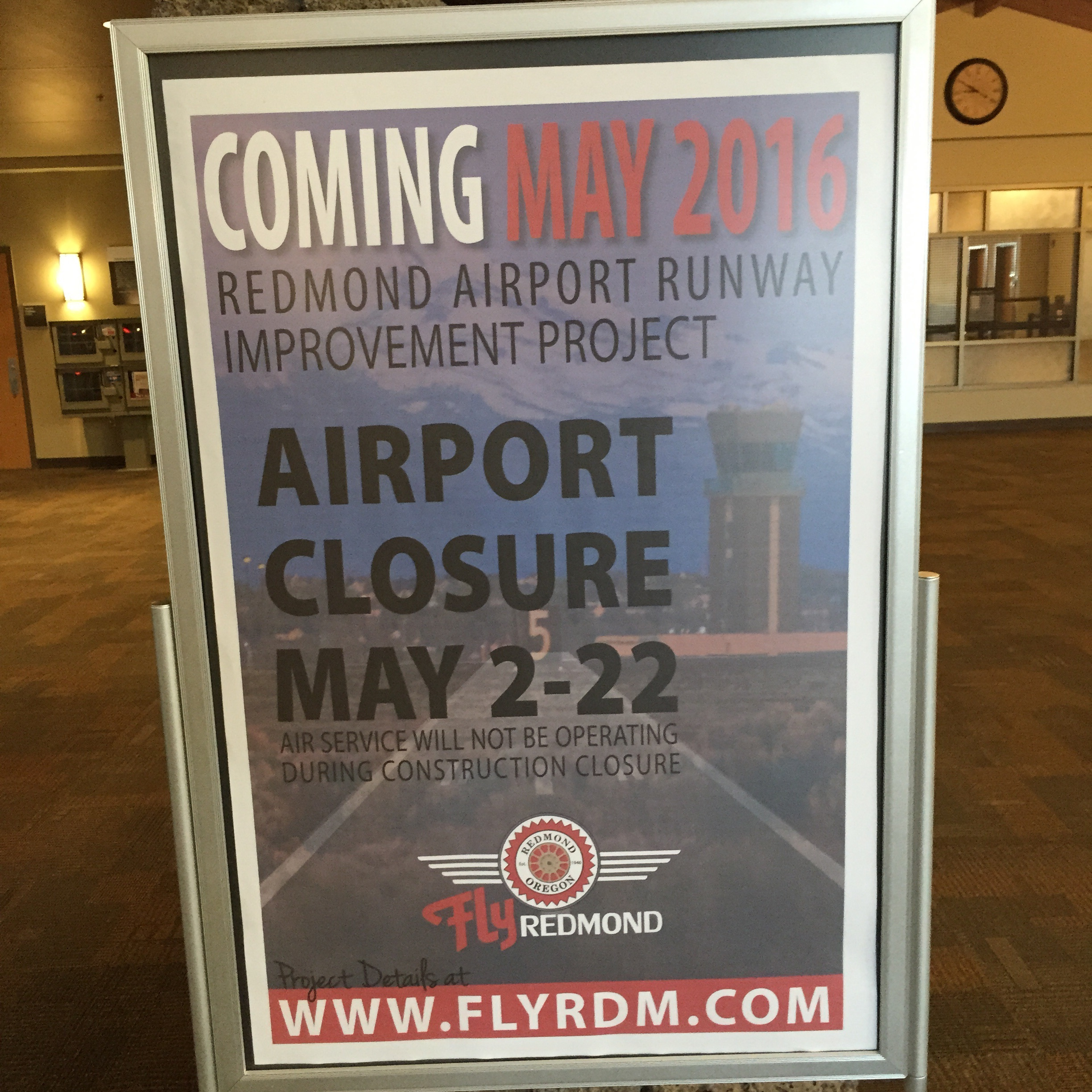 Redmond Airport Closure