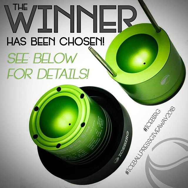 Thank you so much to everyone who took part in the #ICEBIRG #ICEBALLPRESSGIVEAWAY2018!  After much data collection, our system has picked Cheryl Larimer as the winner of our CUSTOM ICEBIRG PRO ICE BALL PRESS!  Please be watching for more chances to save and win awesome Craft Ice Tools and accessories throughout the Holiday season!
