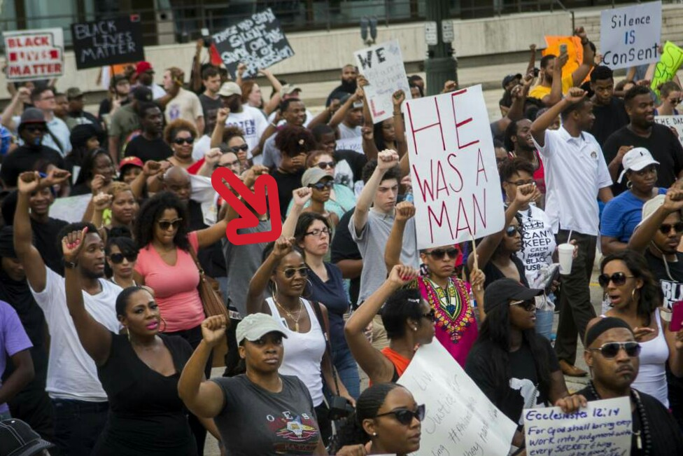 Photo by Brianna Paciorka - Baton Rouge Advocate - www.theadvocate.com - Baton Rouge Protest for Alton Sterling