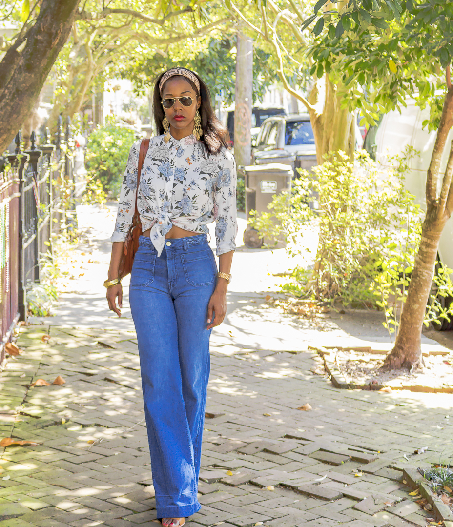 H&M Print Blouse & H&M Flare Pants