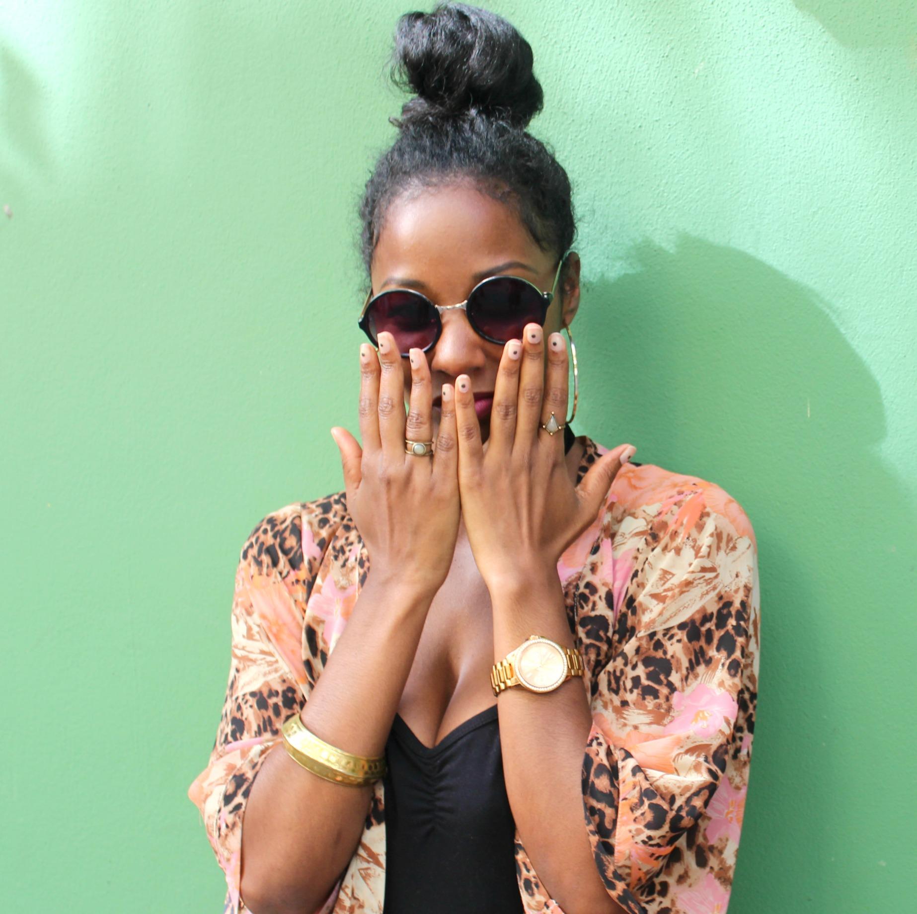 A dot manicure inspired by Sonique Saturday - a cool LA blogger