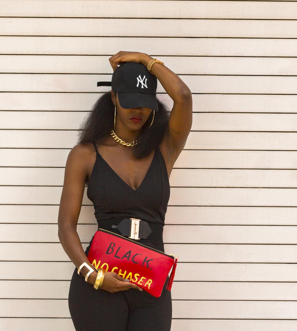 Black No Chaser clutch bag - Unik Fashion Fad