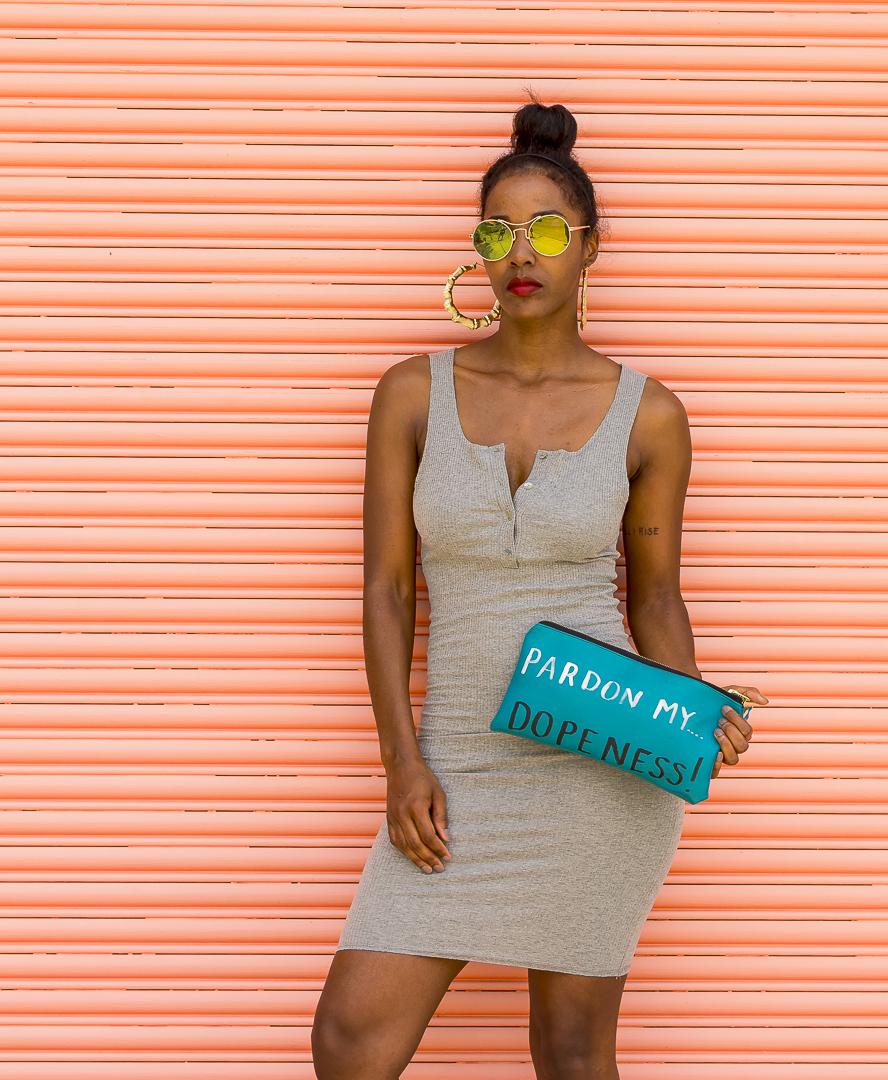 Pardon My Dopeness clutch bag Unik Fashion and Design