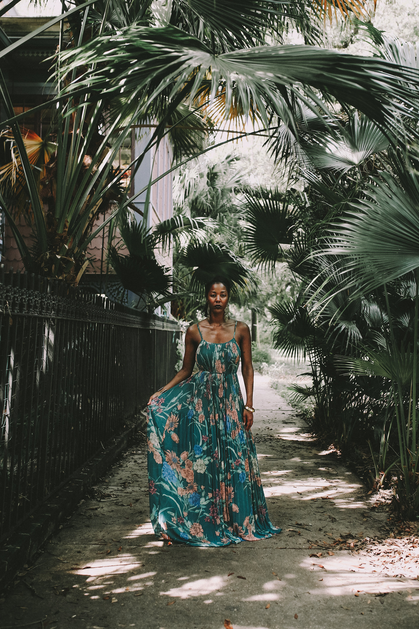 Floral Vintage Dress - Funky Money Nola