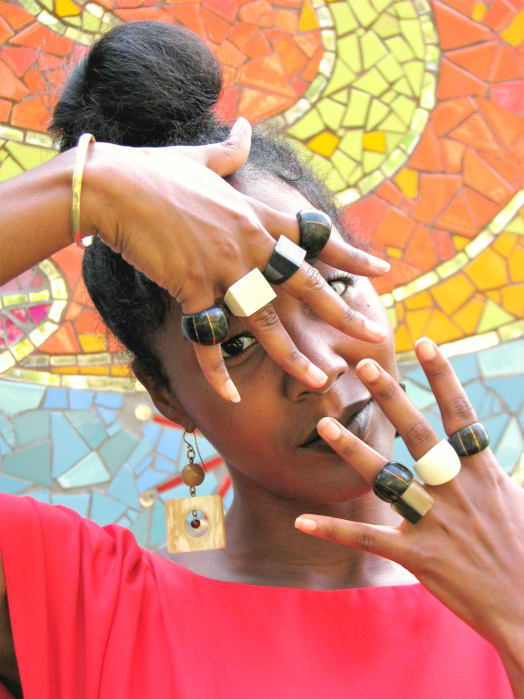 African Authentic Bone Rings