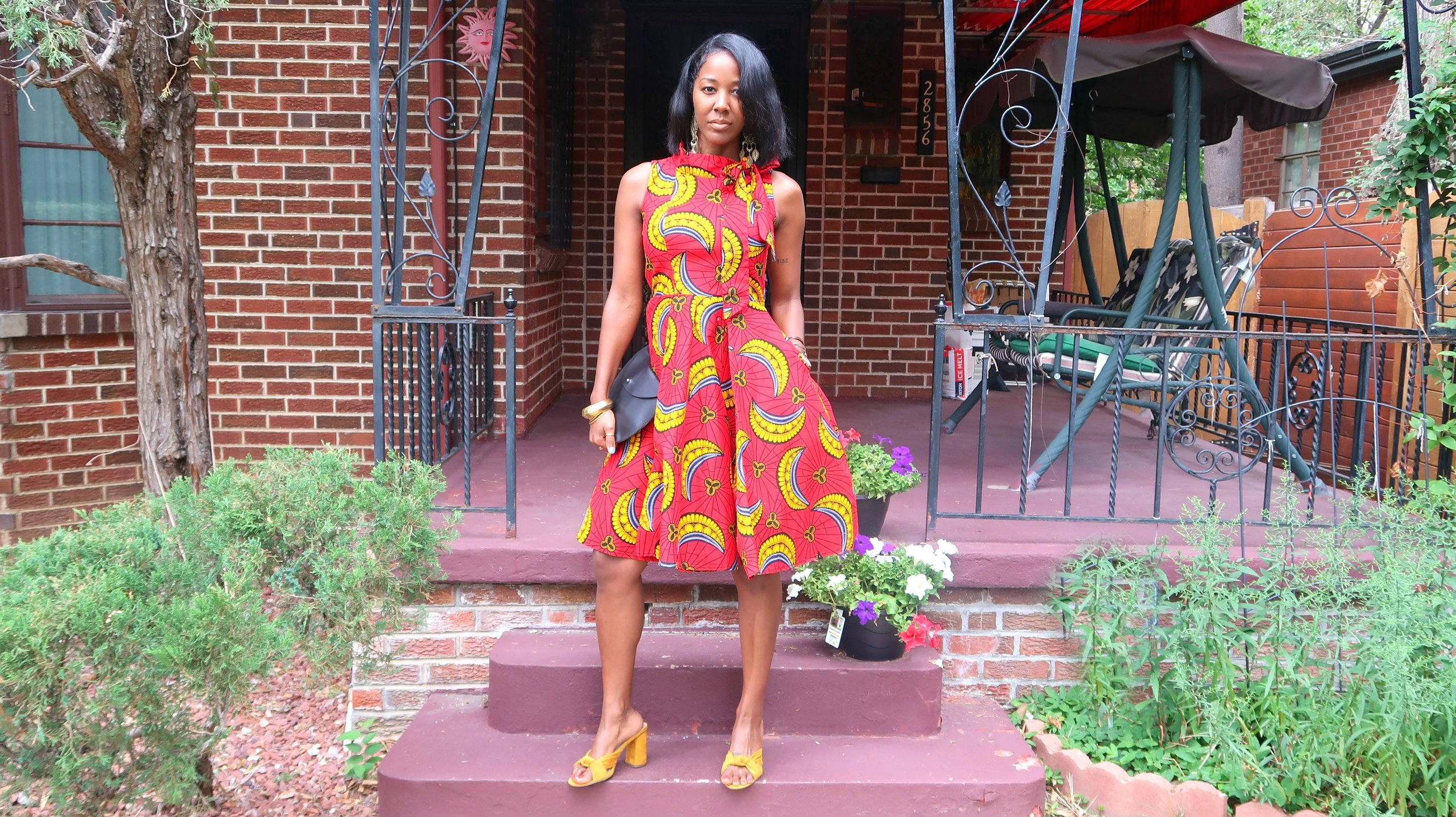 African Print Church Dresses