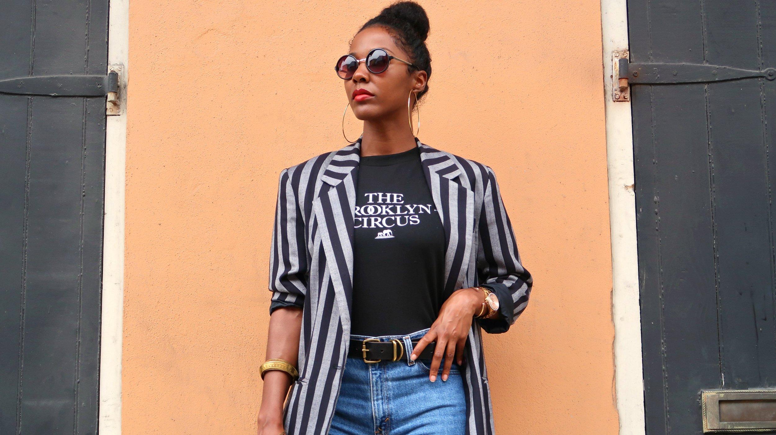 90's stripe blazer