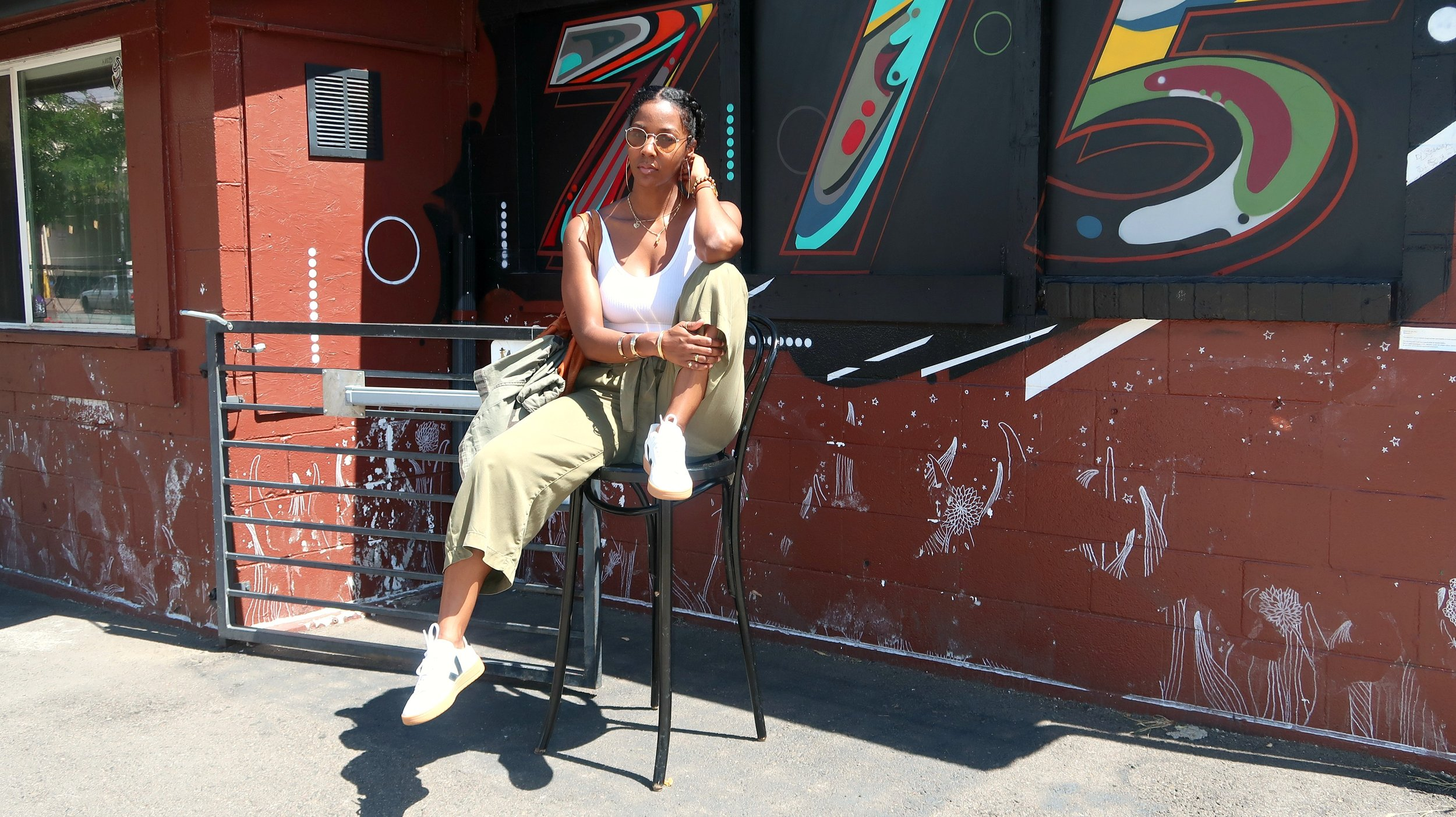 Veja v-12 sneakers, Black Fashion Bloggers