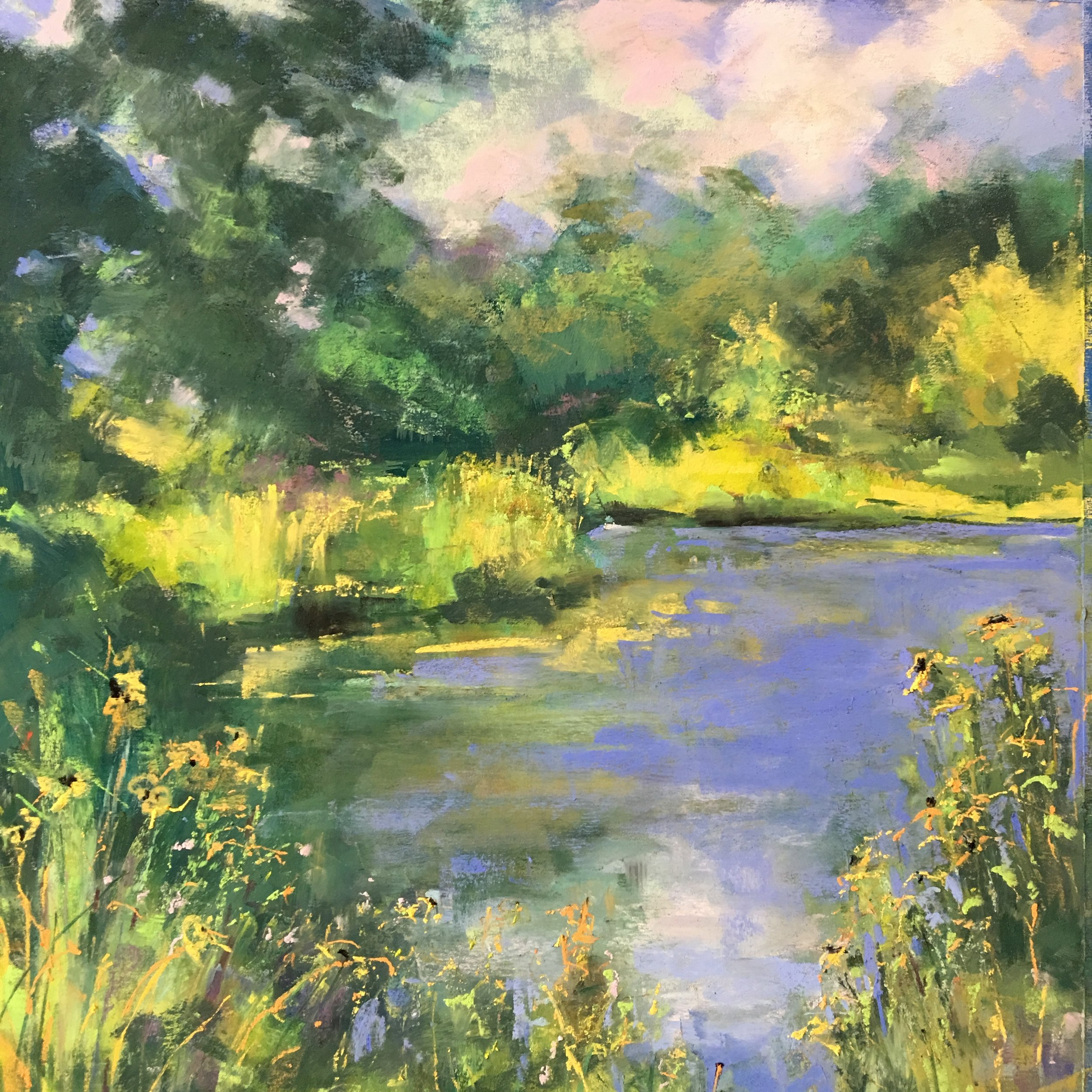 "The Reclamation of Cross Keys   2nd Place,  ""Paint By Nature""   sponsored by Arts connect and the city of Lexington  August 2018  Sold/Private Collection"