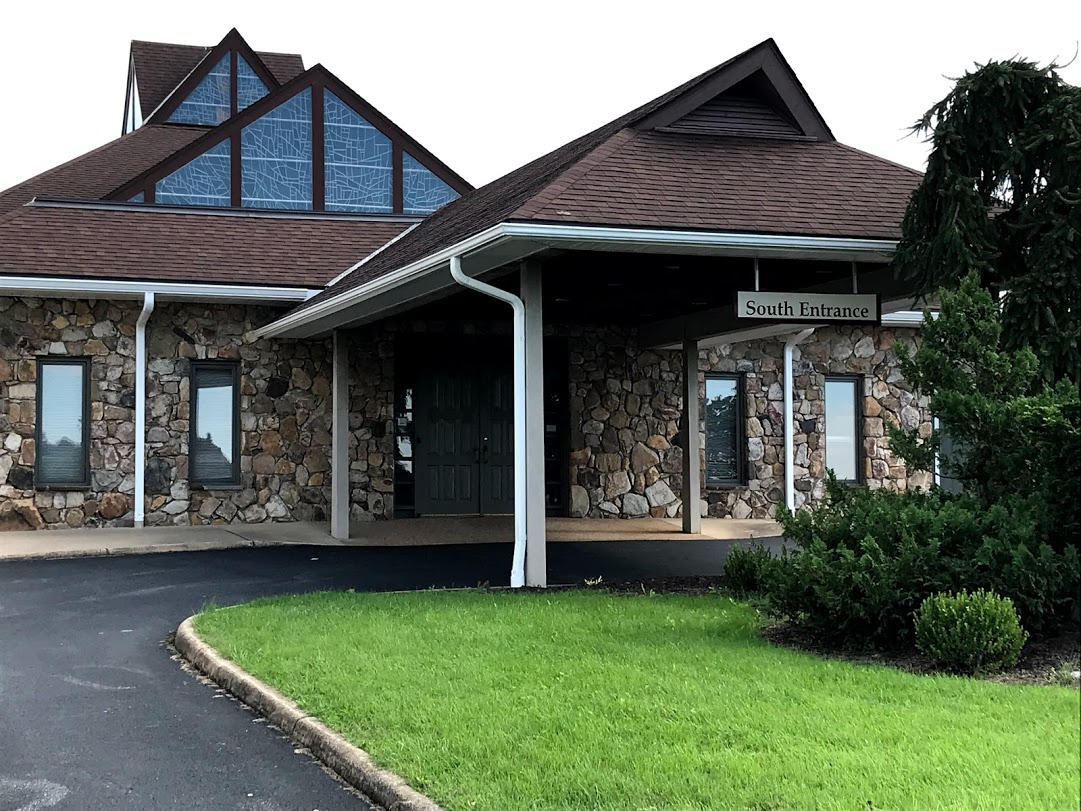 South entrance - this entrance leads into the side of our worship center and can lead to the fellowship hall as well.