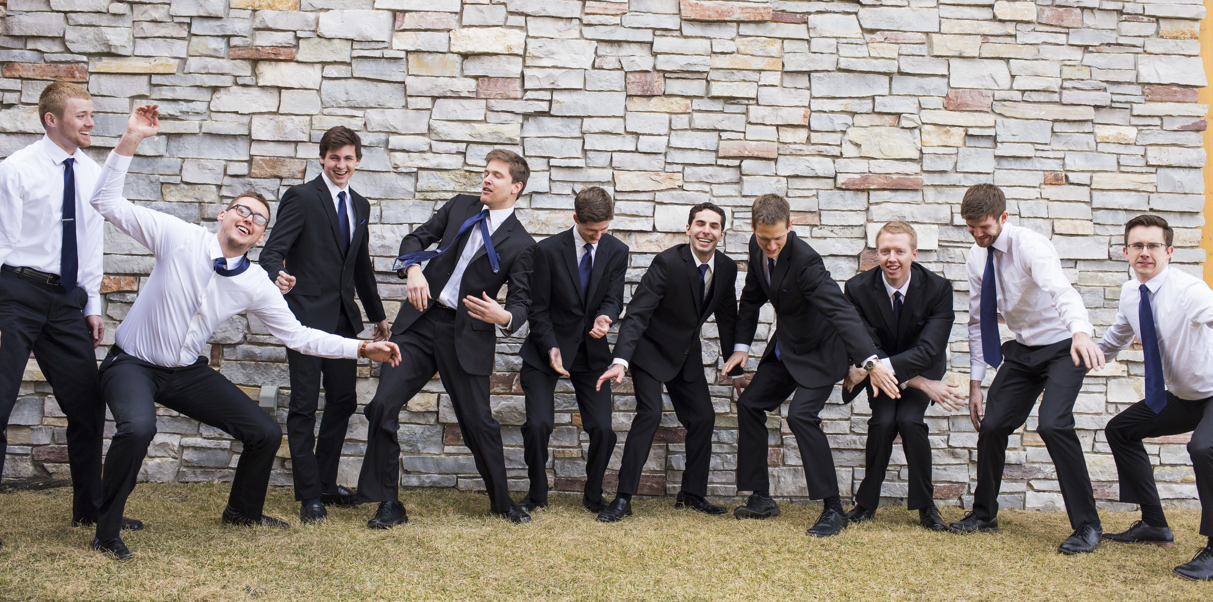 These groomsmen can wobble hahaha! Hilarious! I kinda wanted to keep making them do it forever. You had no idea how funny it was to watch them, and they would have kept going, too!