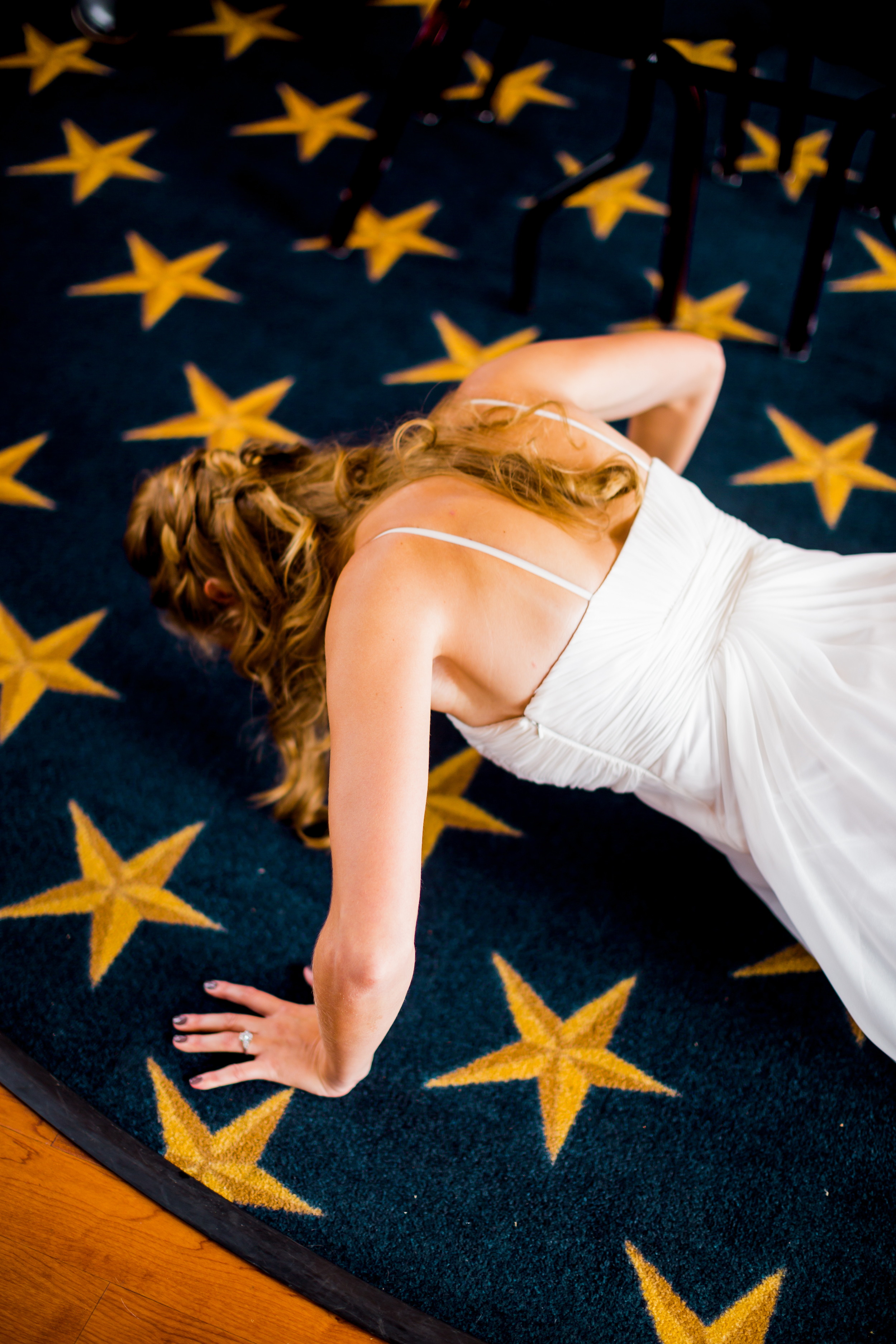 Because obviously your wedding prep isn't complete without a few pushups....