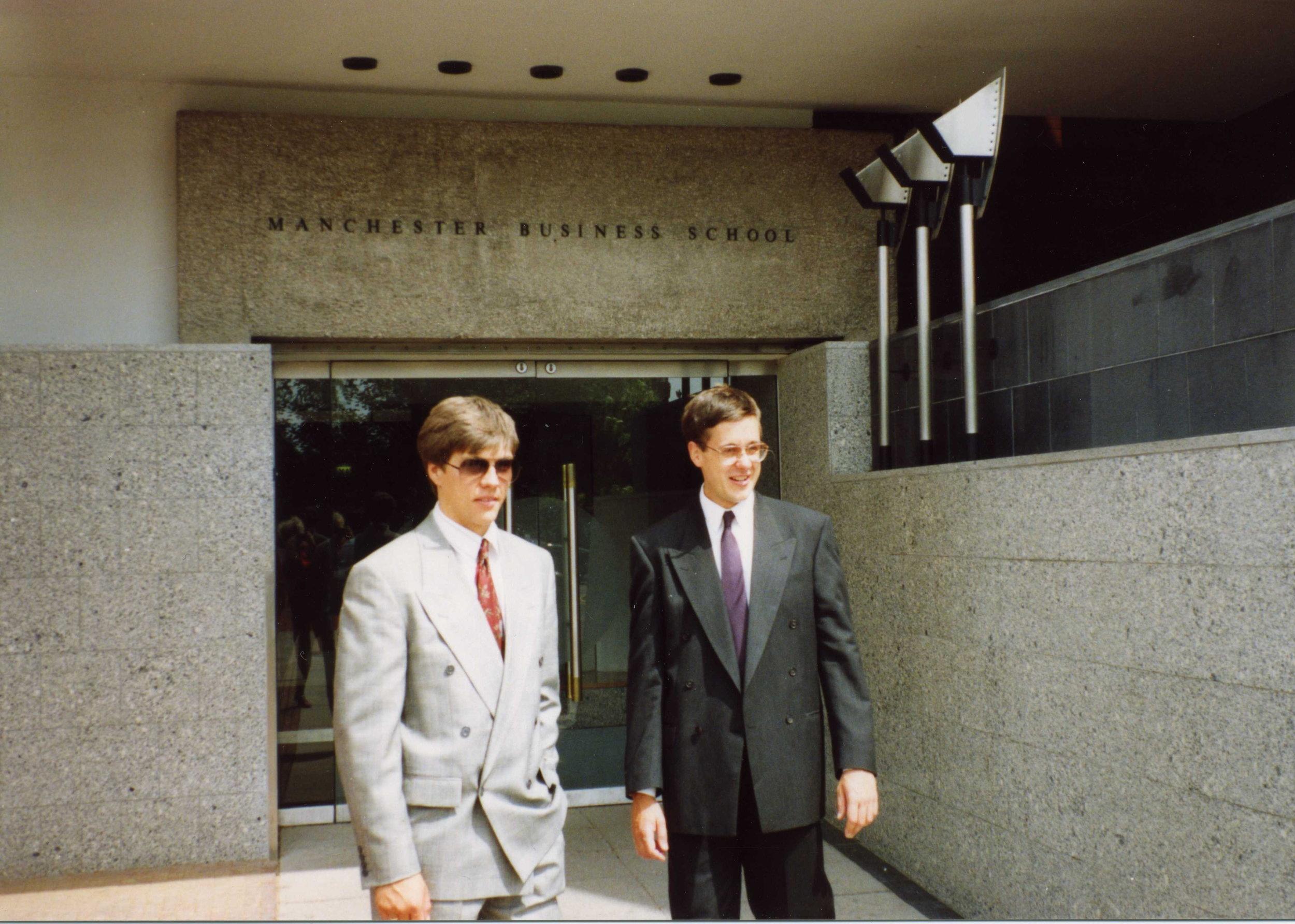 Graduation from Manchester Business School, 1991