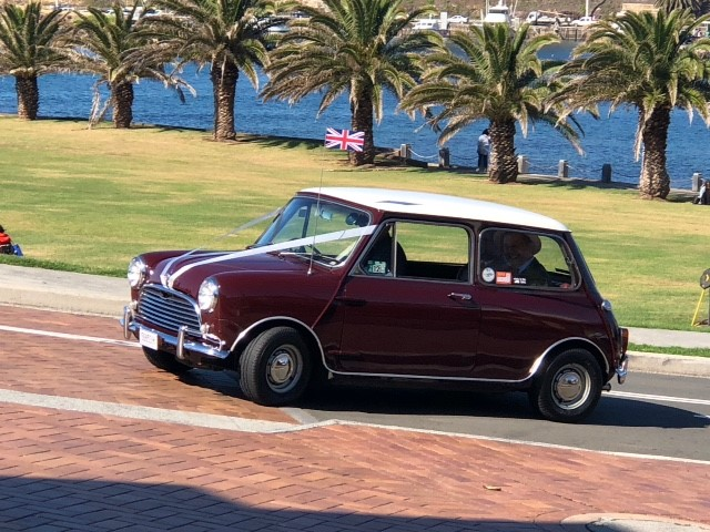 Classic British mini - arriving in style