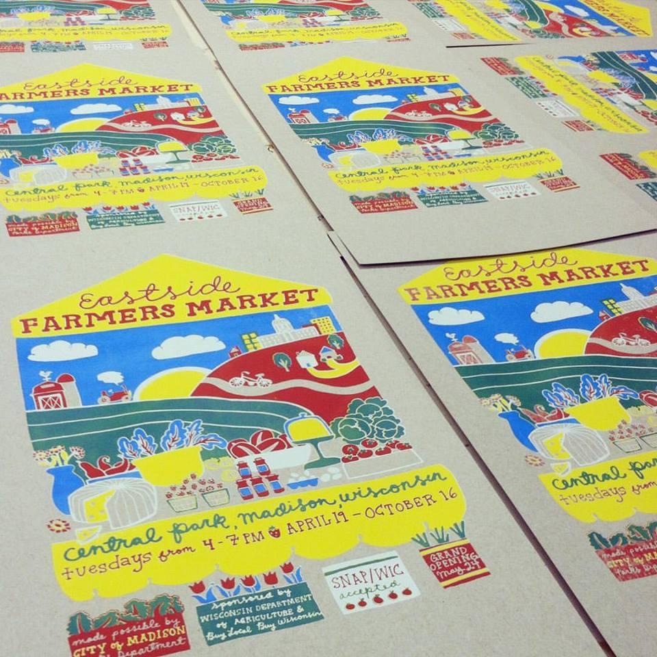 Eastside Farmers' Market Posters
