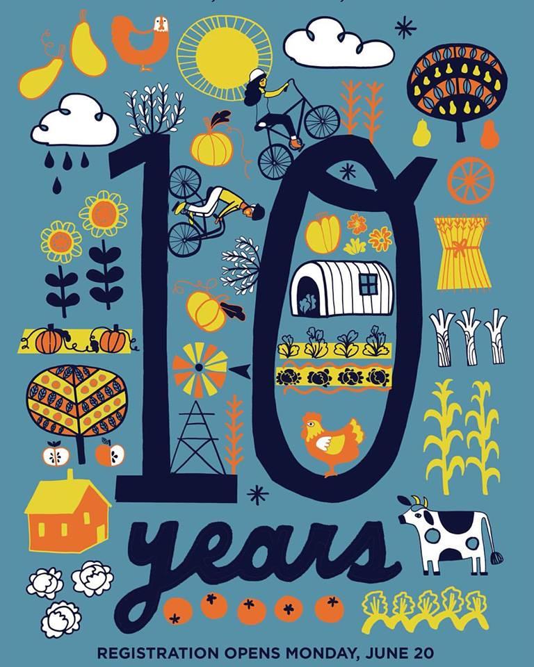 Bike the Barns 10 Year Anniversary Poster