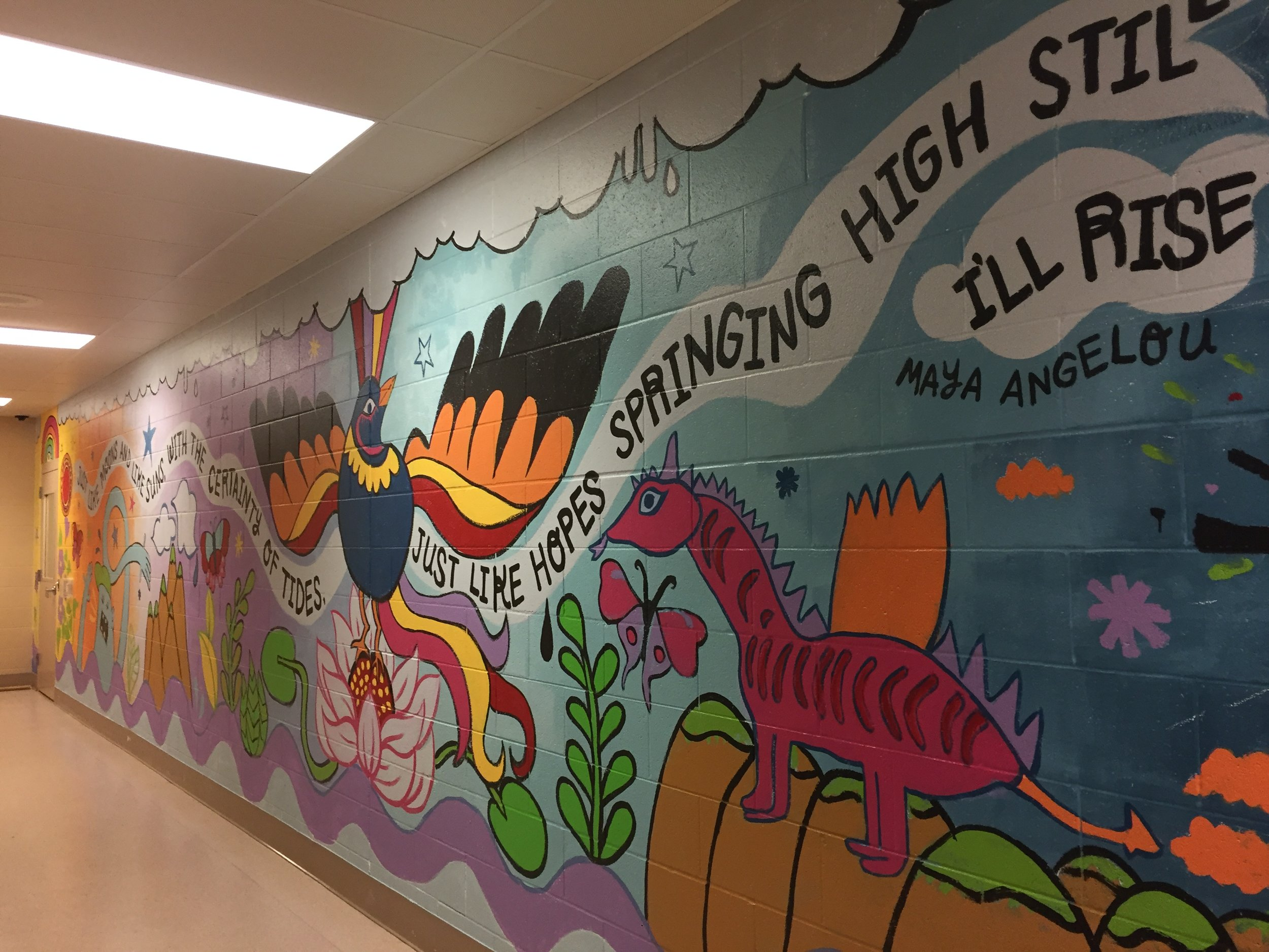 RISE mural at the Dane County Detention Center