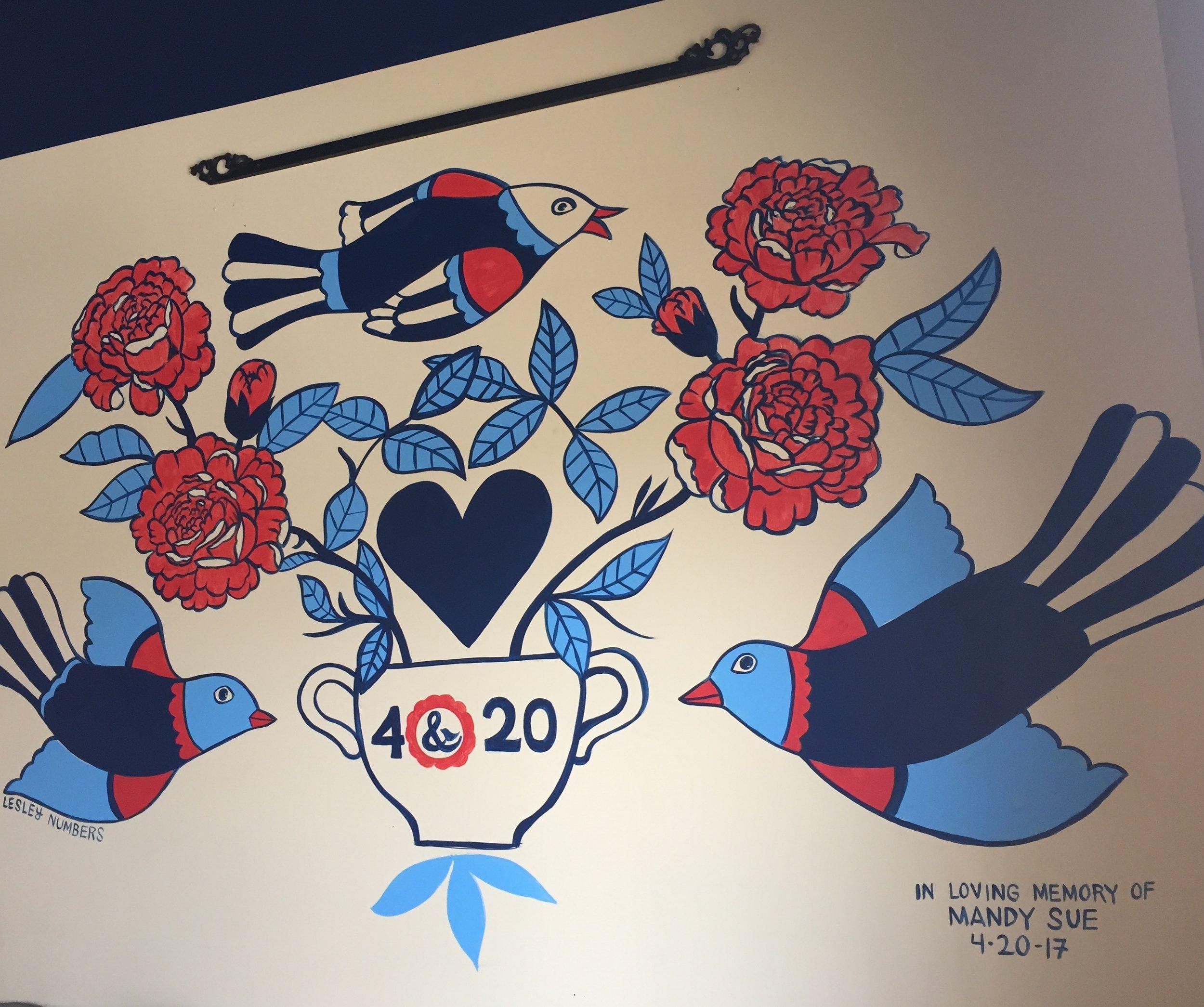 4 & 20 Bakery Mural (for Mandy)