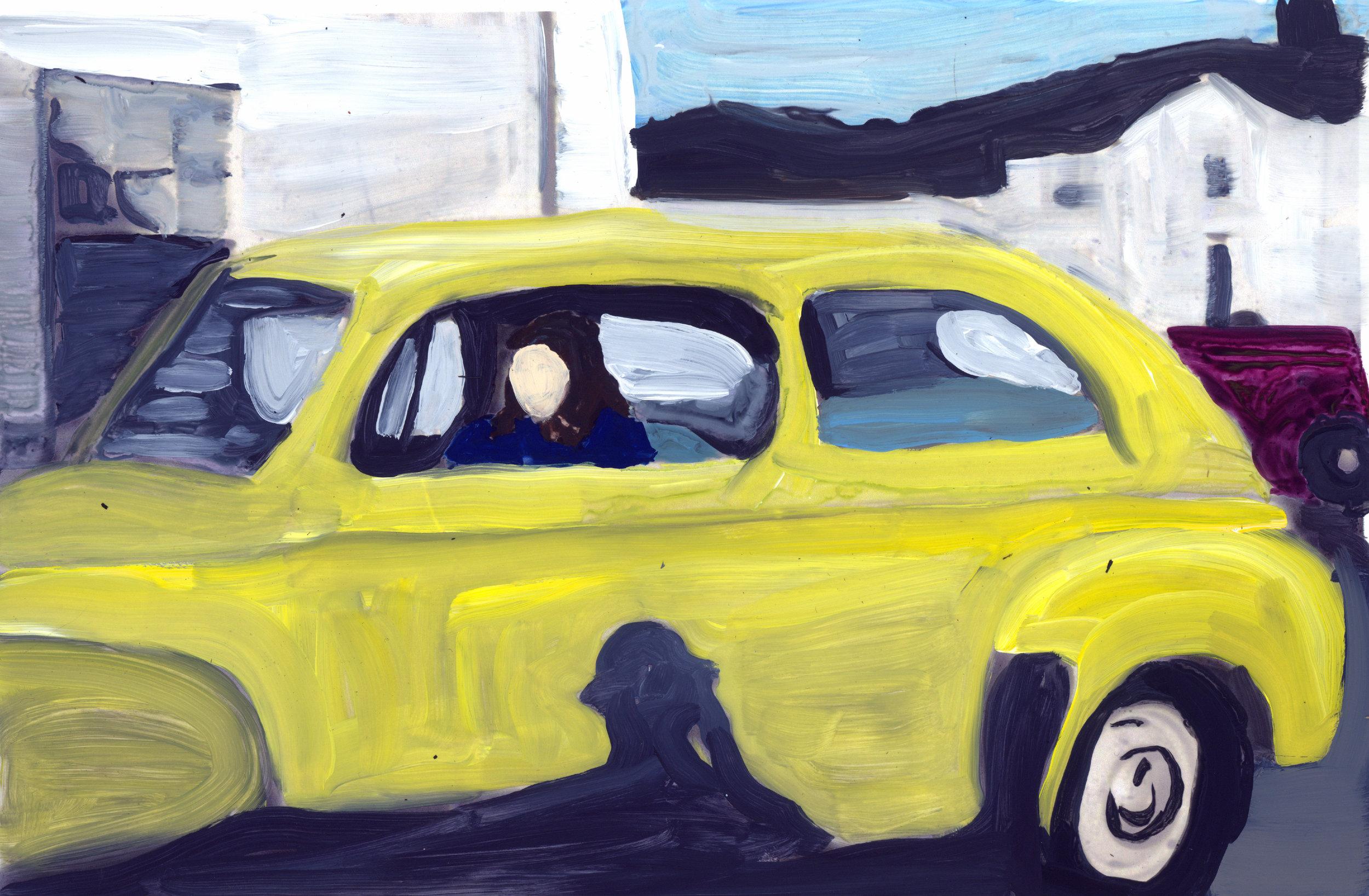 taking the wheel, making a getaway