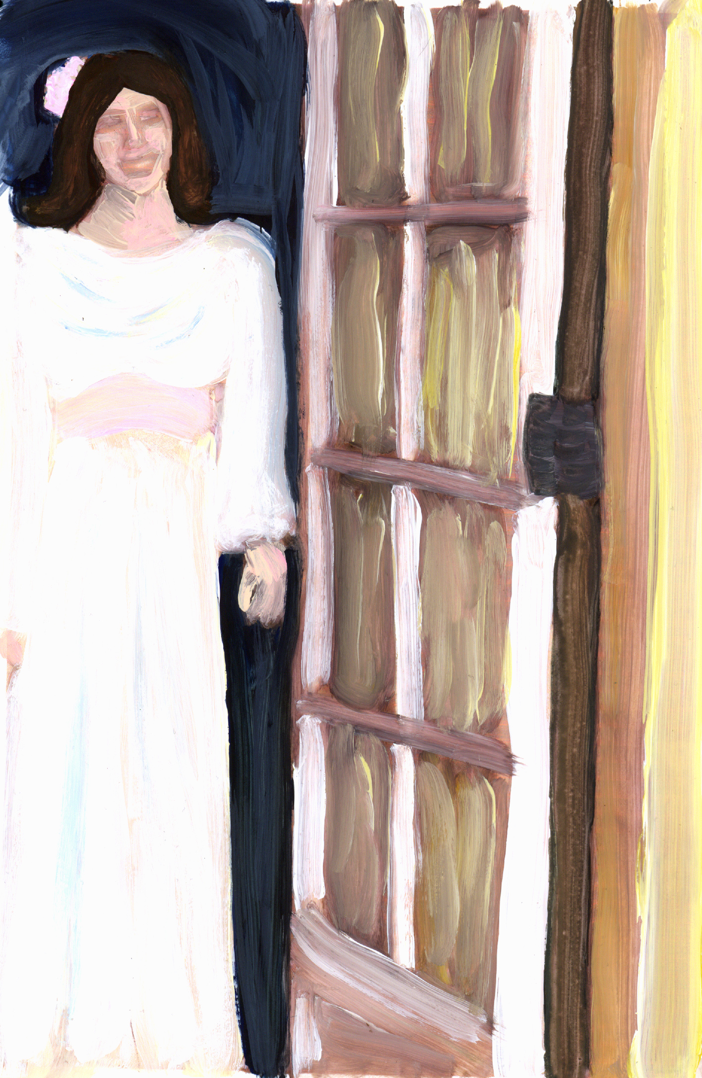 the most remarkable thing about you standing in the doorway is that it's you and you're standing in the doorway