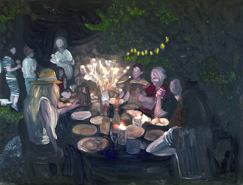 the artists at night