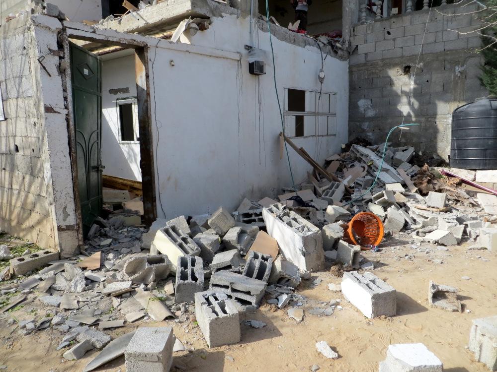 "Copyright: B'Tselem ""The Abu Sbeikhah family home today."" Photo by Muhammad Sabah, B'Tselem. http://www.btselem.org/photoblog/20131225_al_maghazi"