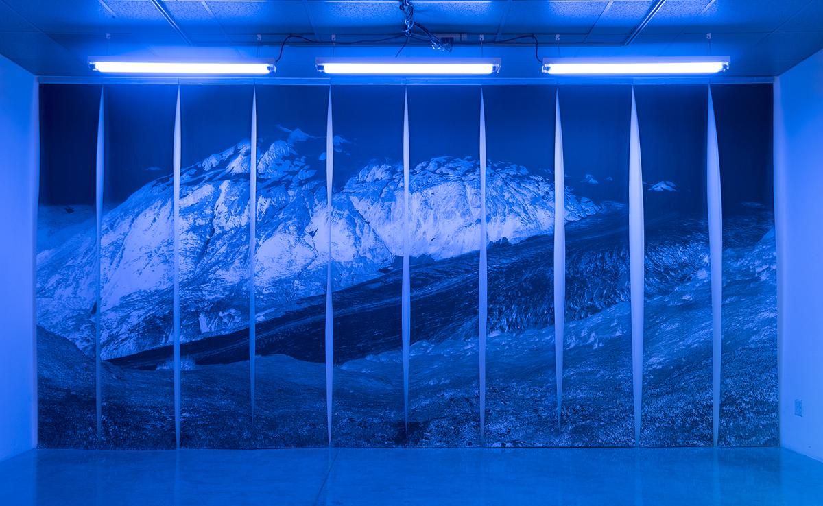Exit.  Digital Print on paper. 10.5 feet x 23 feet. 2016.
