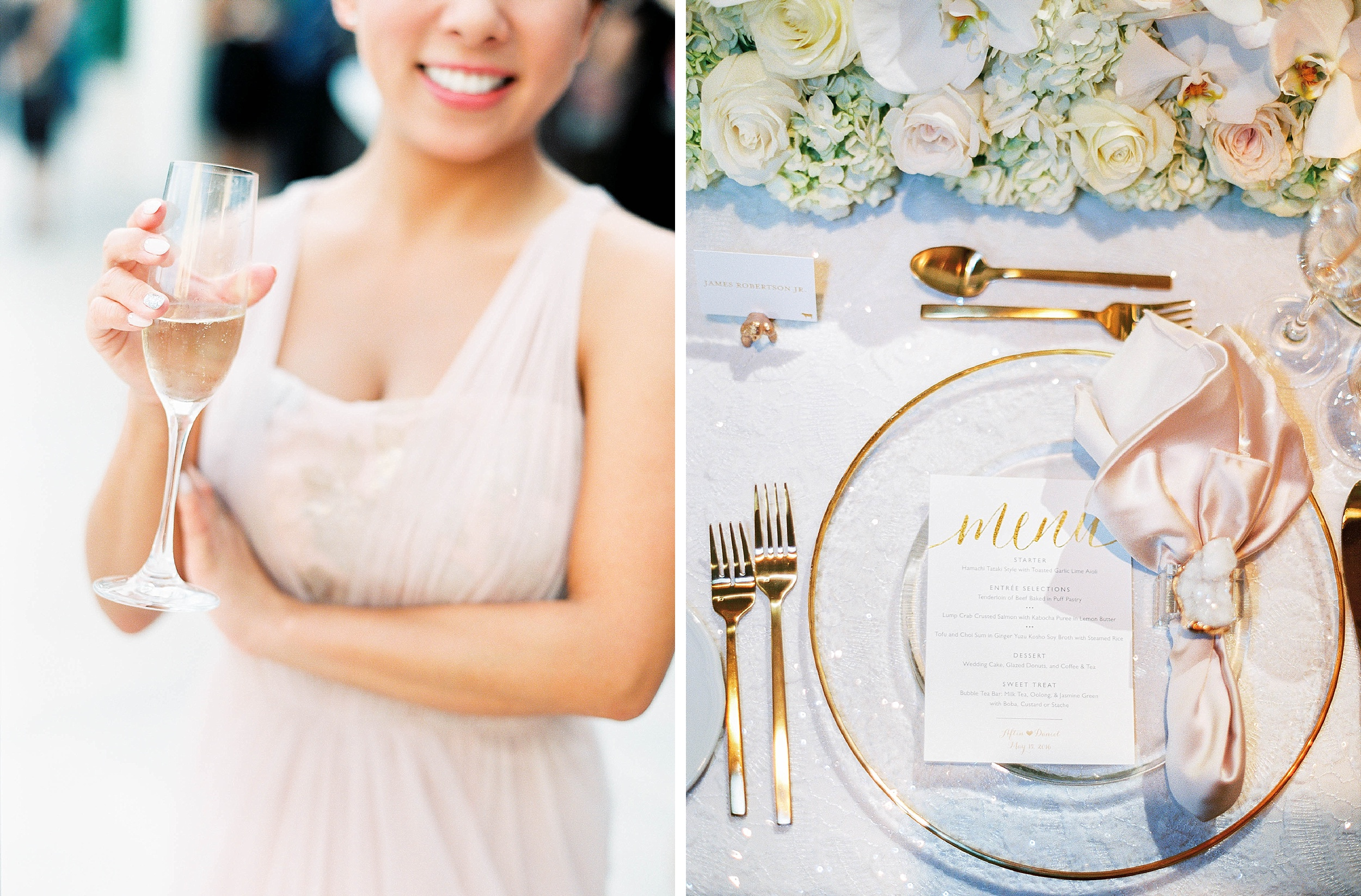 Luxe pink and gold wedding