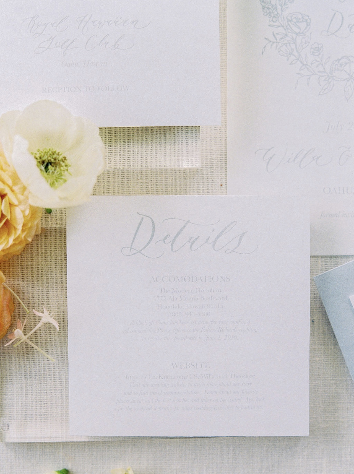 powder blue spring inspired calligraphy stationary suite by anna claire calligraphy.jpg