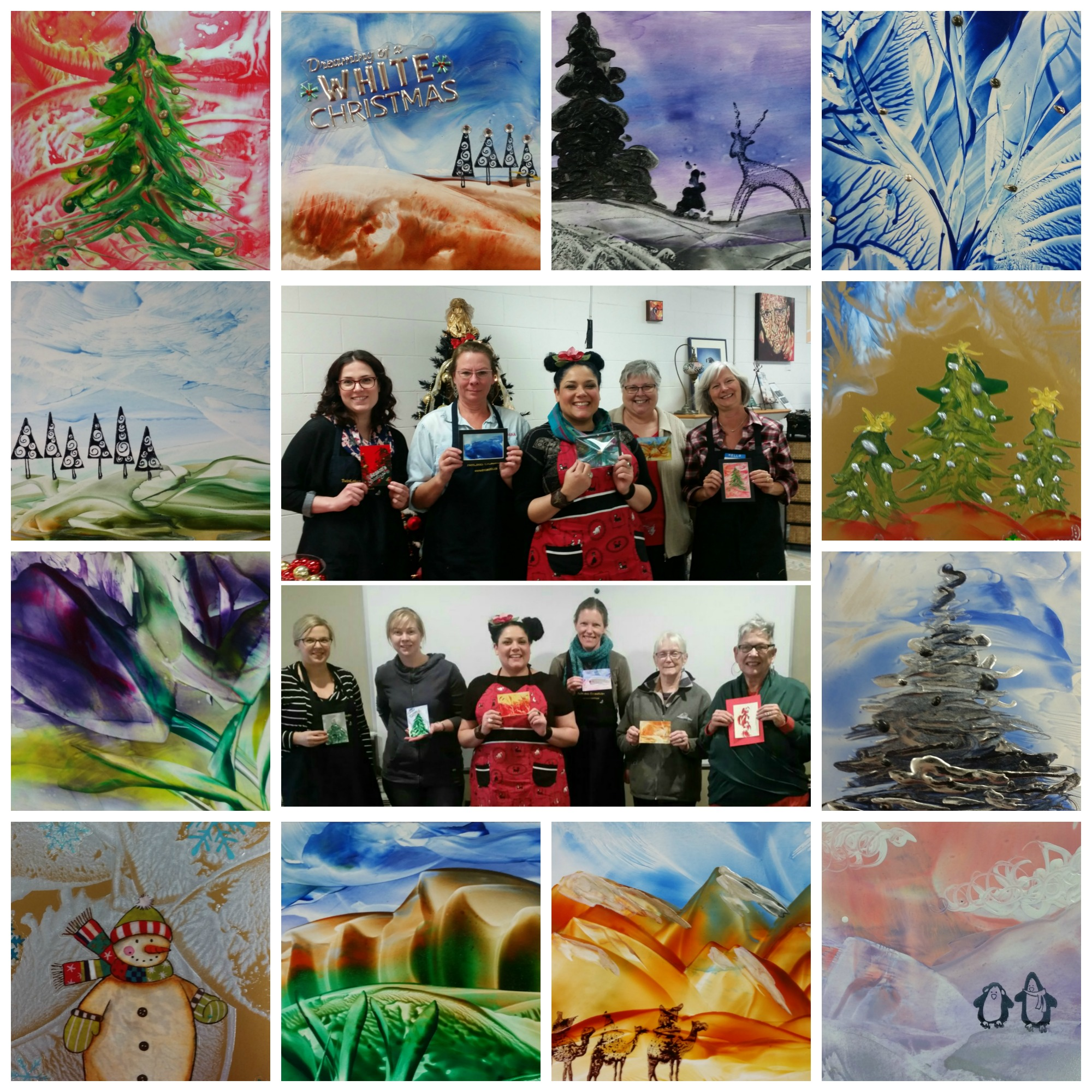 Exploring Encaustic Holiday Cards 2017