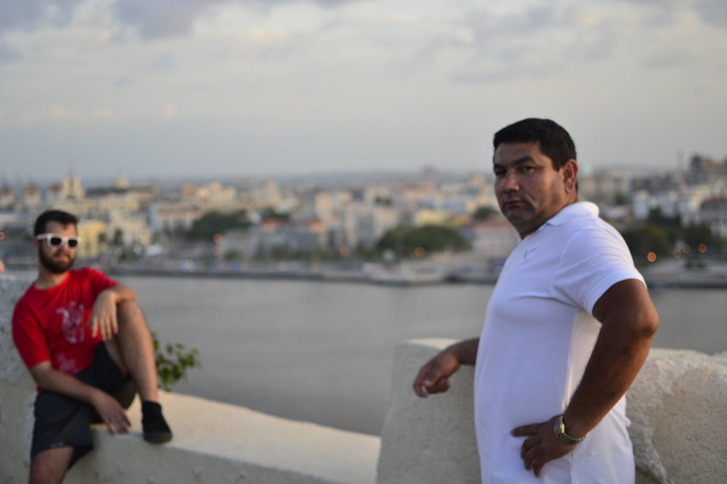 Jeremy and Santiago in Havana, Cuba