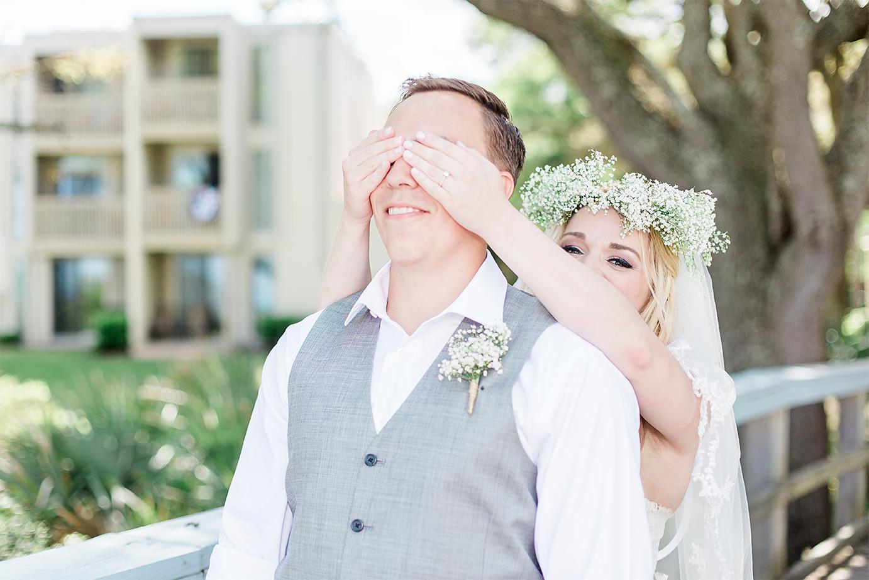 First look | Wedding in Driftwood Beach, Jekyll Island, GA | Maris Kirs Photography | Jacksonville, Ponte Vedra and St.Augustine wedding photographer