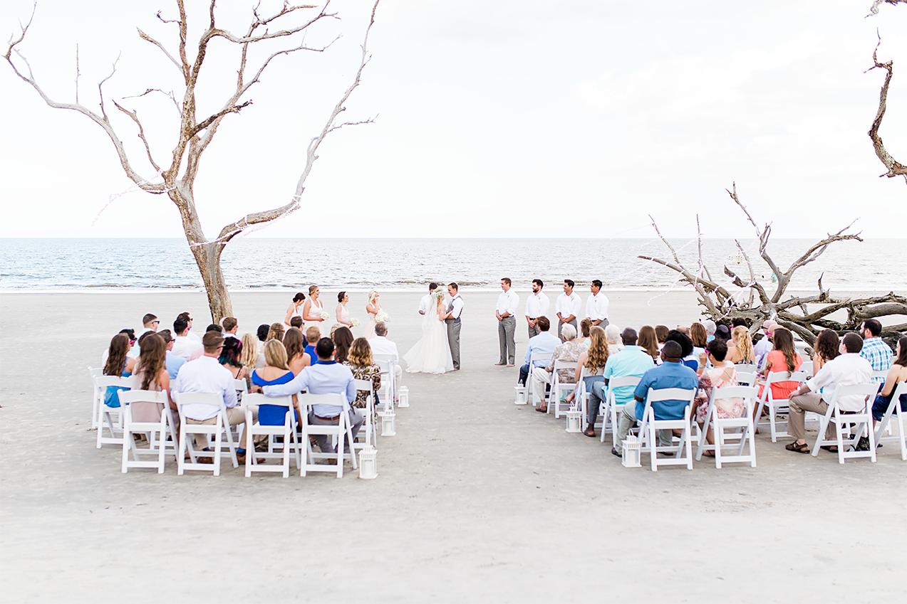 Ceremony | Wedding in Driftwood Beach, Jekyll Island, GA | Maris Kirs Photography | Jacksonville, Ponte Vedra and St.Augustine wedding photographer