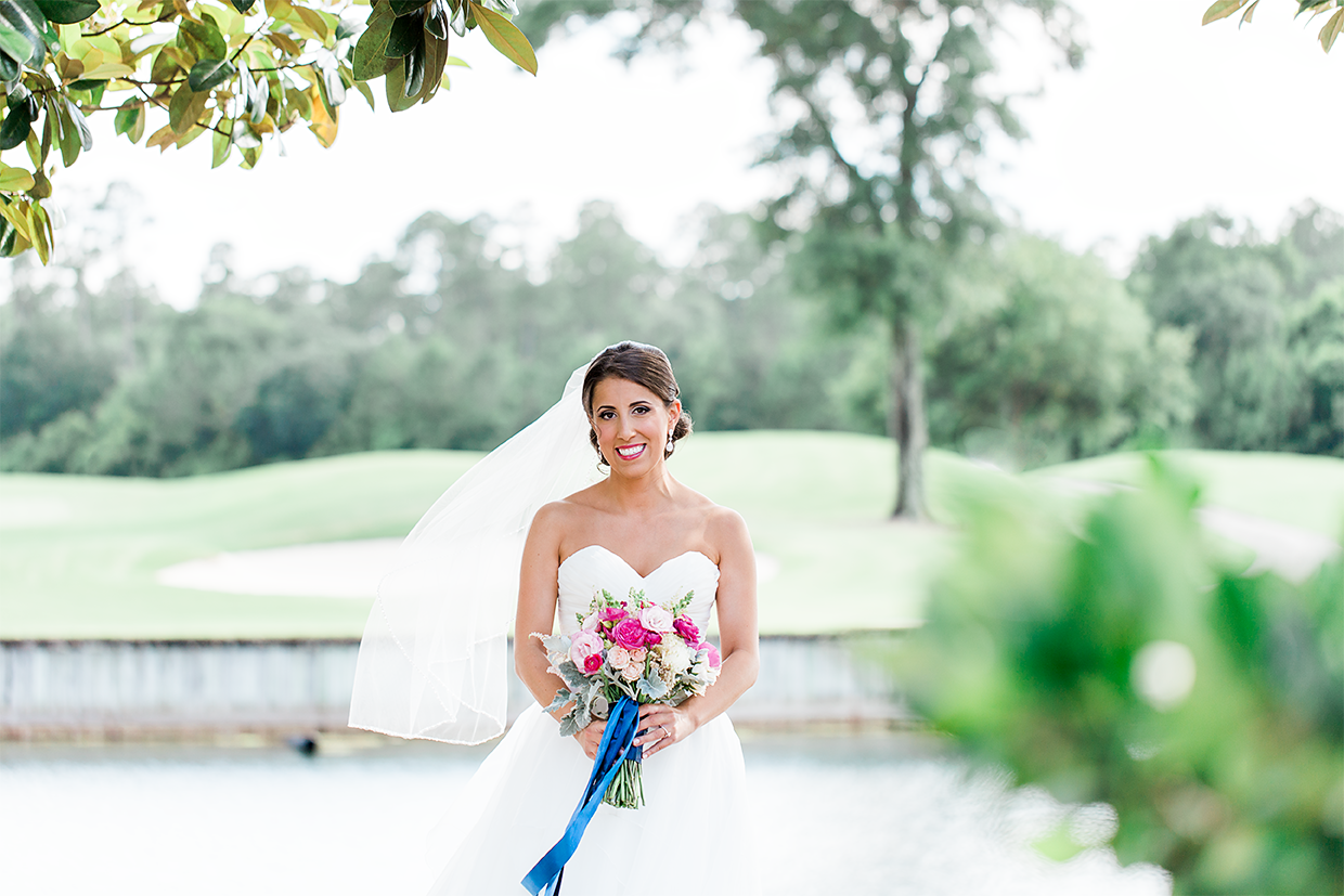 Bridal portraits in St.John's Golf&Country Club