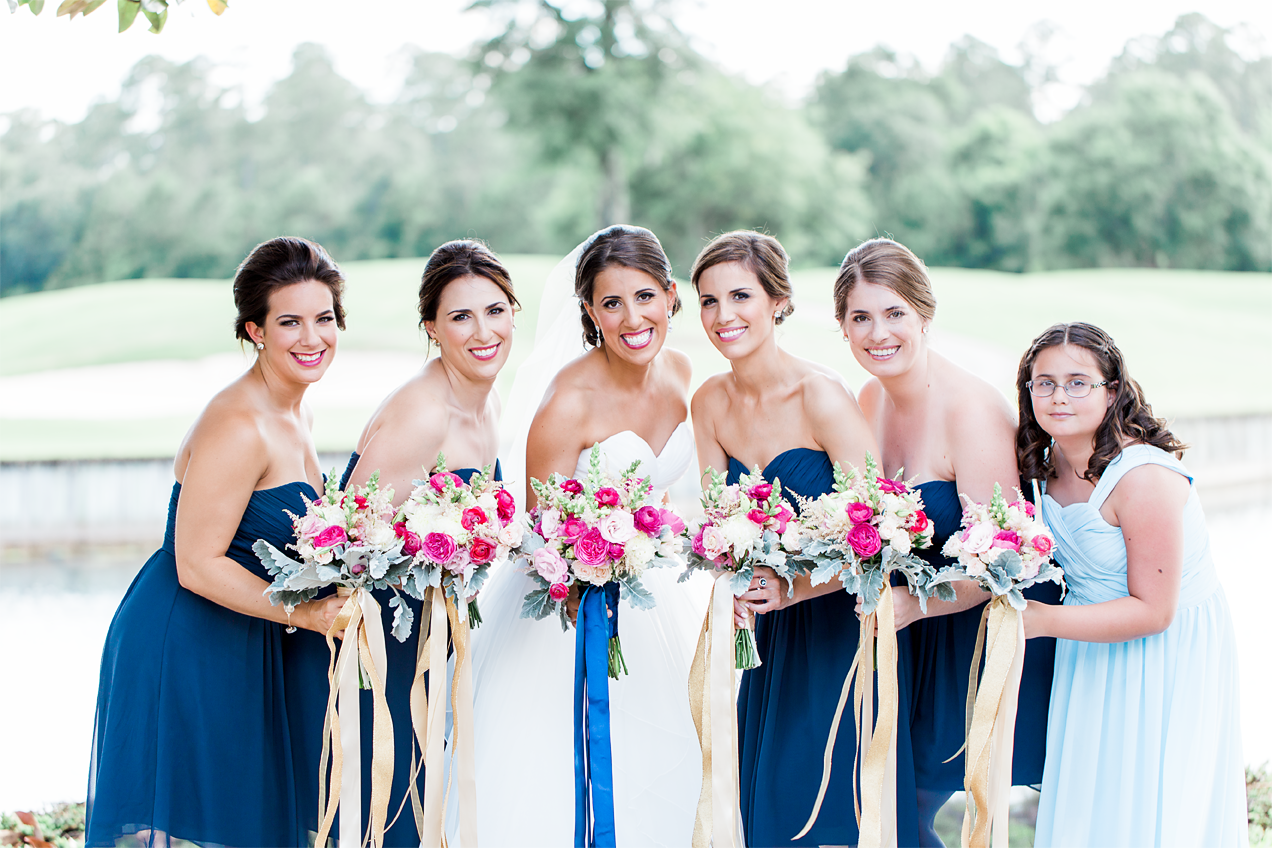 Bride and bridal party at the wedding venue in St.Augustine